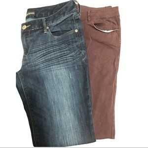 Lot of size 10 jeans Express And Bass